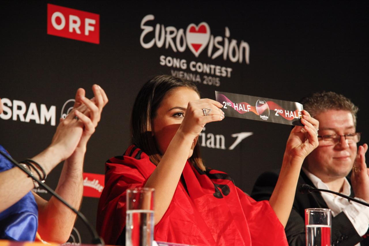 Elhaida Dani draw the 2nd half for Albania in the Final