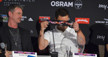 Måns Zelmerlöw drew the first half of the Final show for Sweden