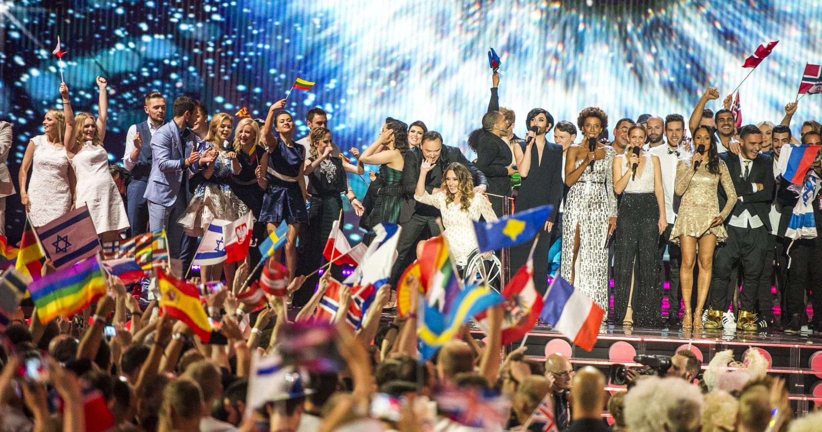 The second Semi-Final winners on stage