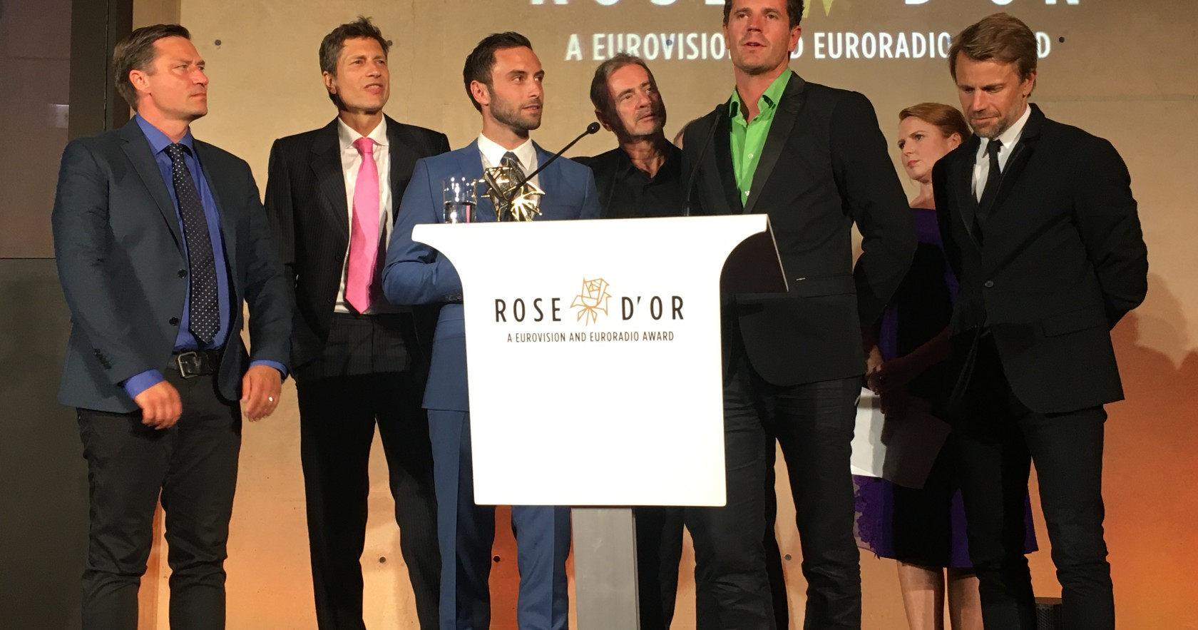 The SVT team collect the award in Berlin, Germany