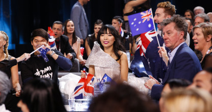 Dami Im nervously awaits the results of the Second Semi-Final