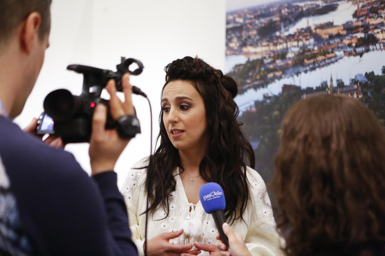 Jamala attracted a lot of media attention in Stockholm
