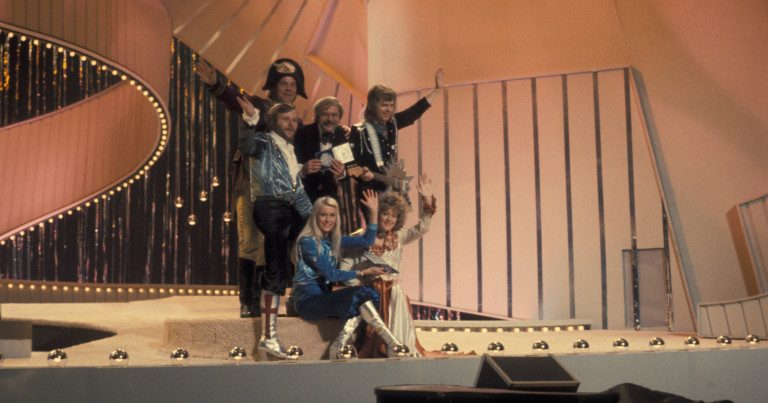 ABBA, after their famous victory at the 1974 Eurovision Song Contest for Sweden.