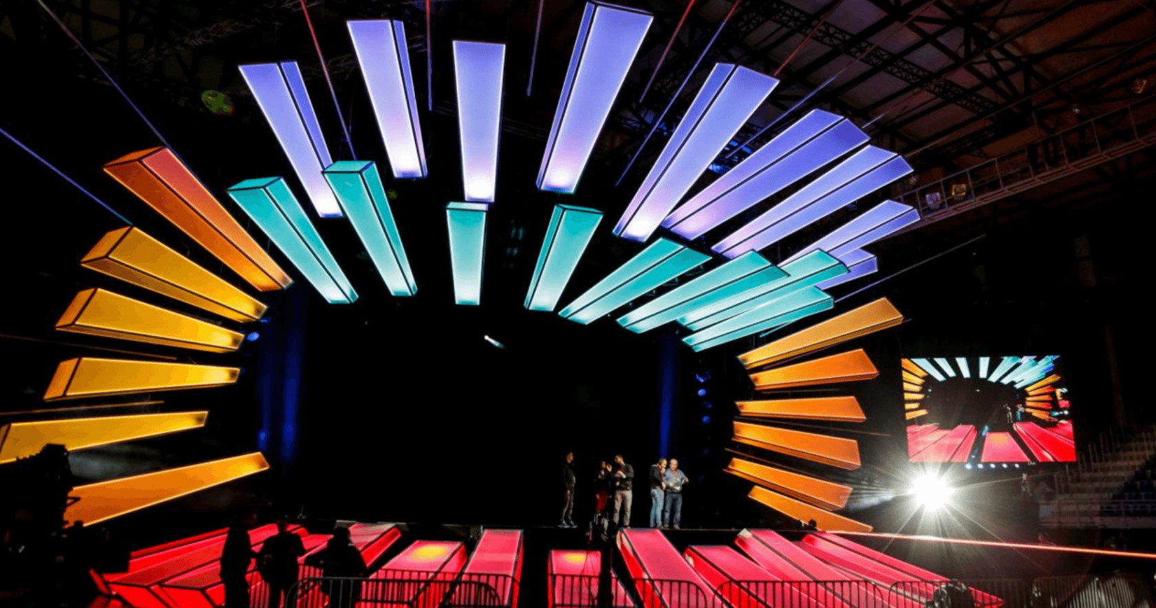 The stage of the 2017 Junior Eurovision Song Contest