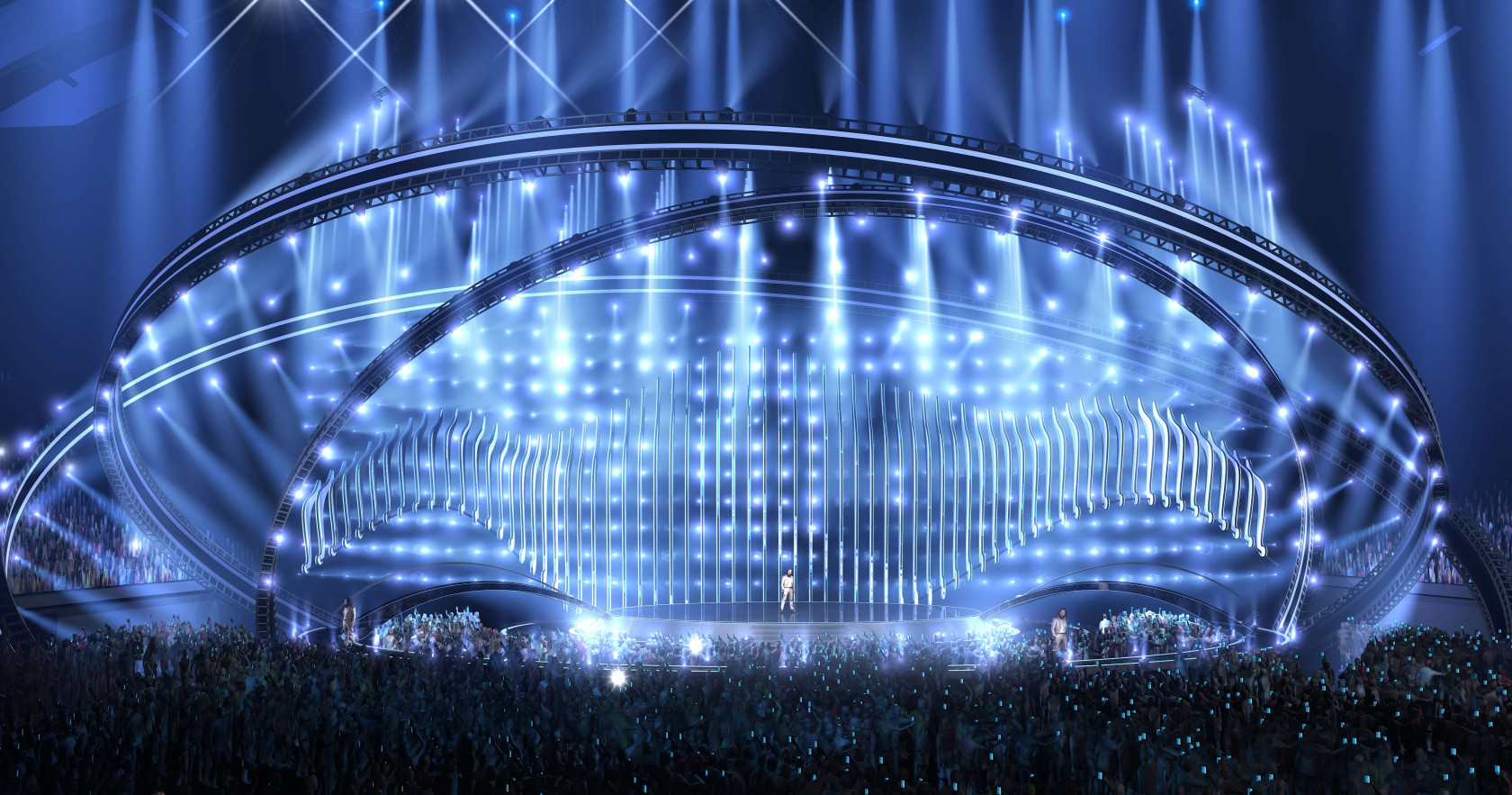 The stage of the 2018 Eurovision Song Contest
