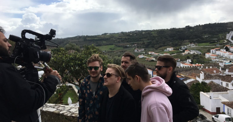 Hungarian 2018 Eurovision Song Contest participant AWS visited the Portuguese town of Óbidos to record their postcard video.