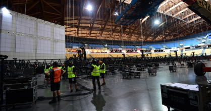 With just weeks to go until the first rehearsals, the build-up continues nearly around the clock inside the venue of the 2018 Eurovision Song Contest in Lisbon.