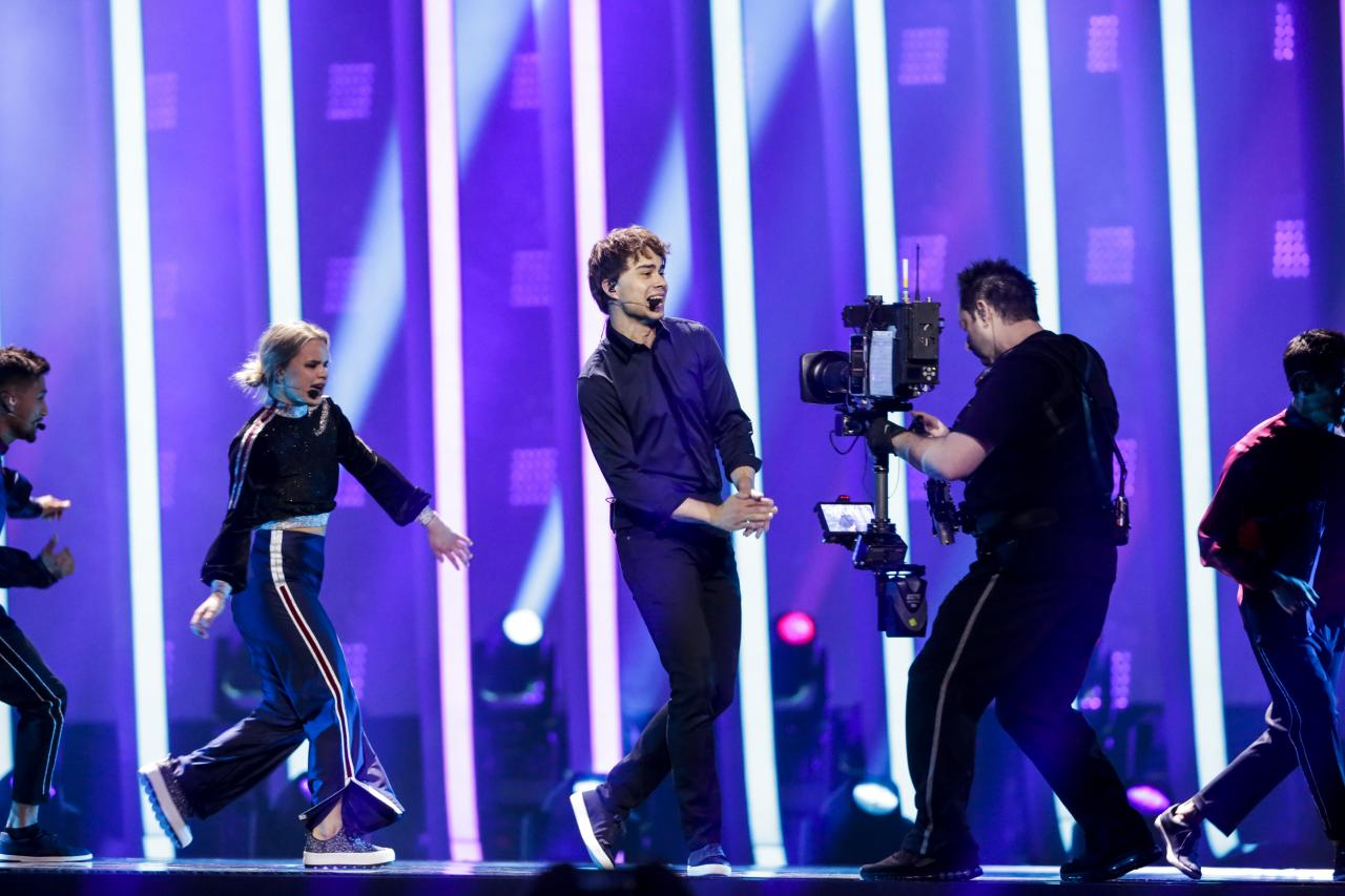 The first rehearsal of Alexander Rybak representing Norway in 2018