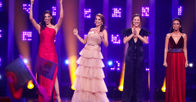 The four hosts of the 2018 Eurovision Song Contest