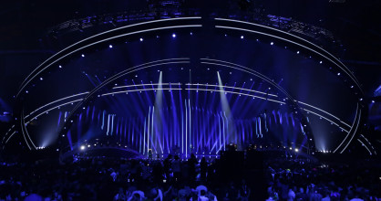 At the Grand Final of the 2018 Eurovision Song Contest.