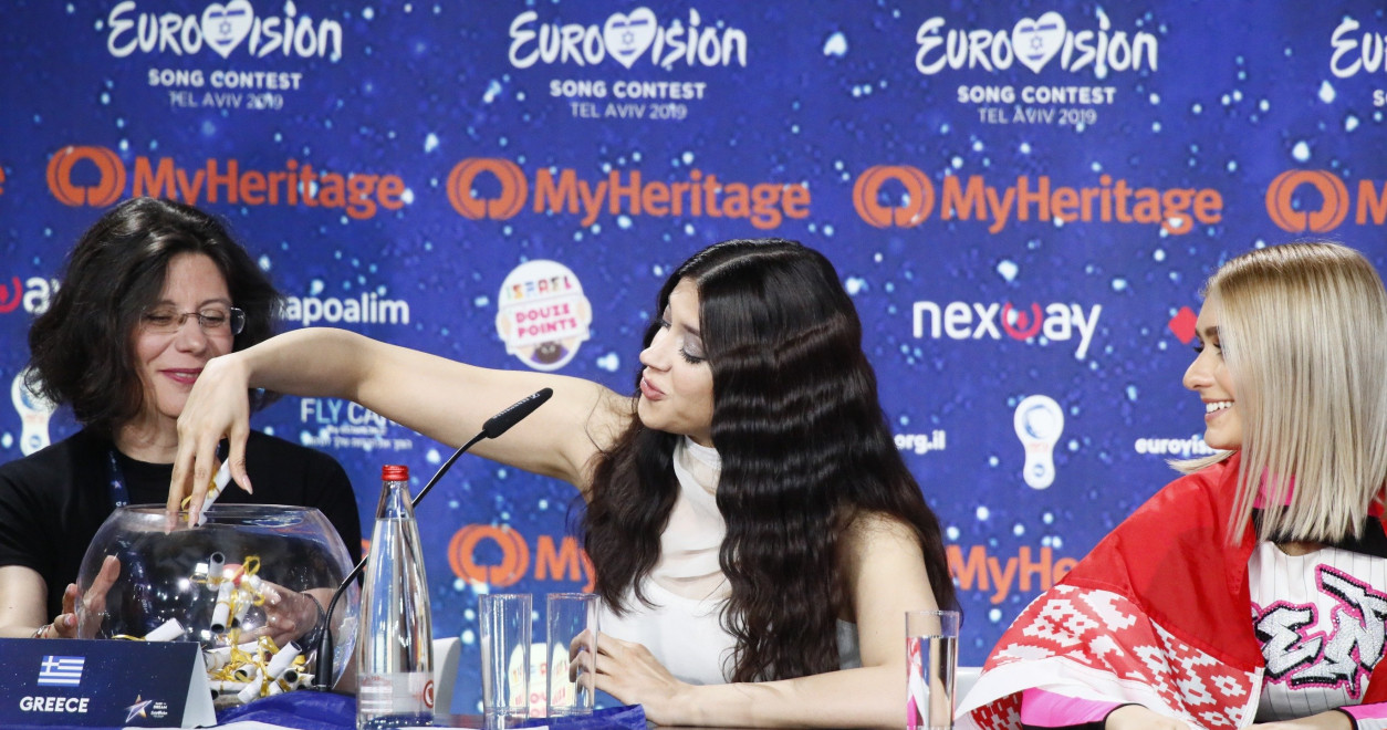 Press conference with the 10 qualifiers from the first Semi-Final of Eurovision 2019.