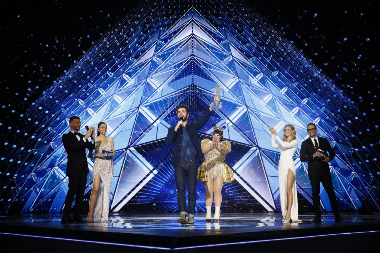 Duncan Laurence wins the 2019 Eurovision Song Contest for the Netherlands.