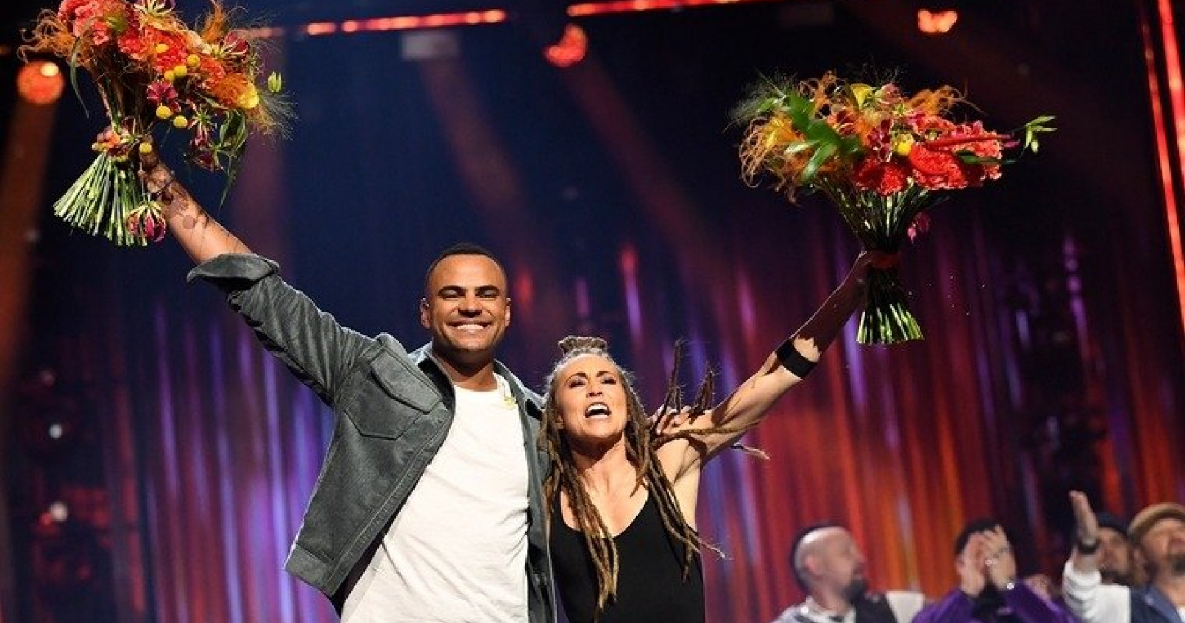 Mohombi and Mariette, finalists in Melodifestivalen