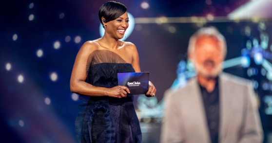 Edsilia Rombley presenter of Eurovision: Europe Shine A Light