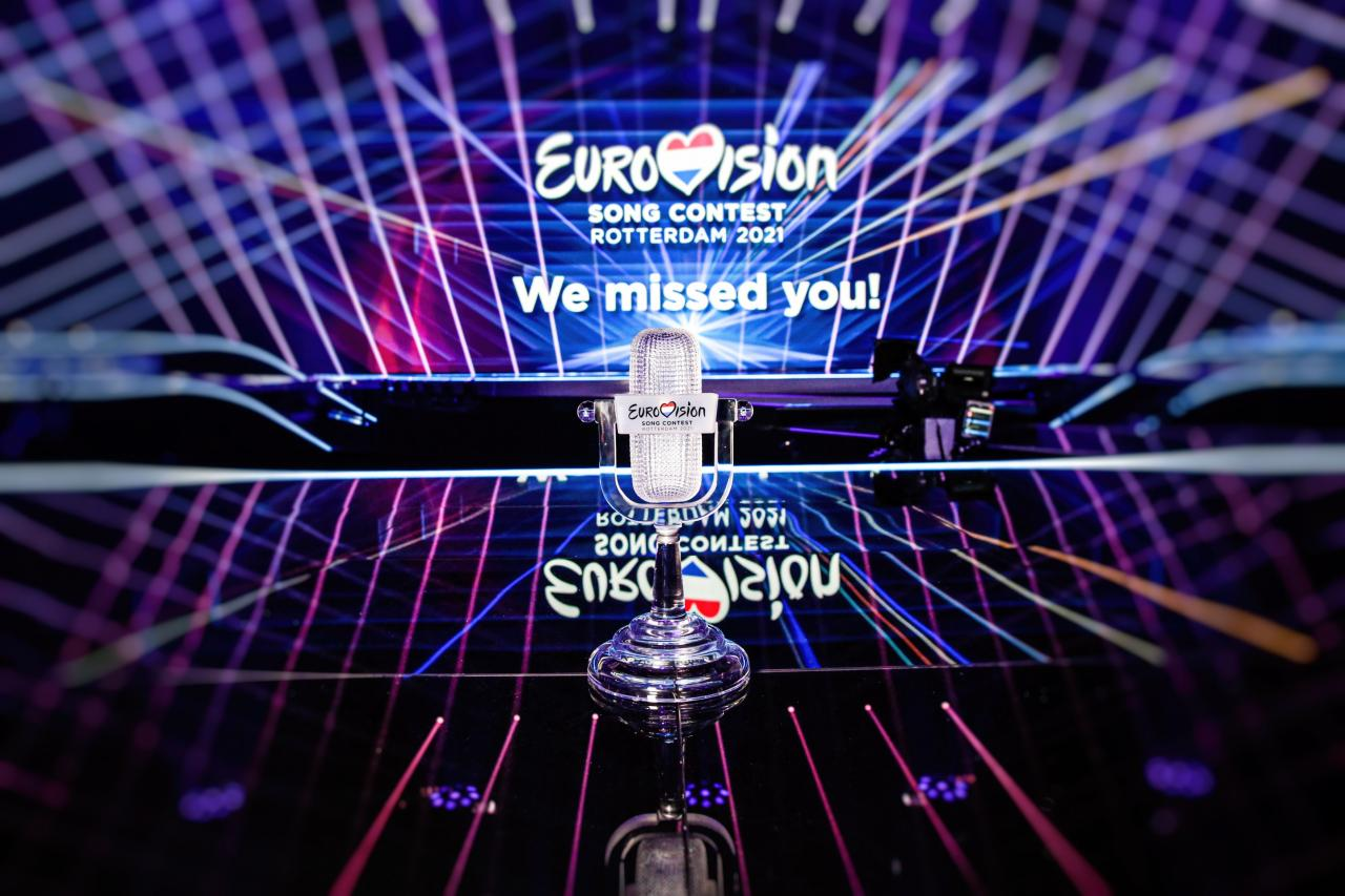 The trophy of the Eurovision Song Contest 2021
