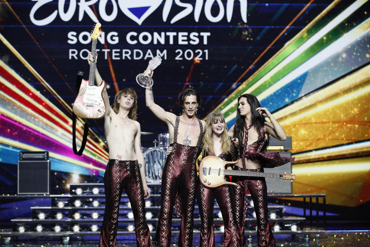 Måneskin from Italy has won the Eurovision Song Contest 2021