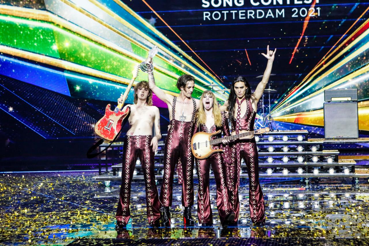 Winner on Stage - Grand Final - Eurovision Song Contest 2021 - Rotterdam Ahoy
